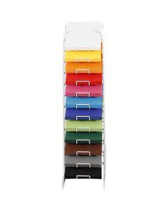 Kulørt karton, H: 900 mm, A4, 210x297 mm, ass. farver, 12x100 ark/ 1 pk.