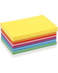 Forårskarton, A6, 105x148 mm, 180 g, ass. farver, 120 ass. ark/ 1 pk.