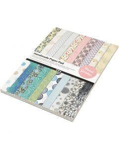 Håndlavet papir, A4, 210x297 mm, 110 g, 20 ark/ 1 pk.