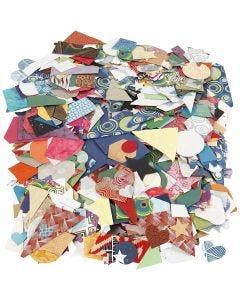 Håndlavet papir , str. 25-130 mm, 110 g, 500 g/ 1 pk.