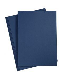 Papir, A4, 210x297 mm, 110 g, blå, 20 stk./ 1 pk.