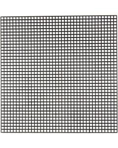 Syplast, str. 14x14 cm, hulstr. 3x3 mm, sort, 50 ark/ 1 pk.