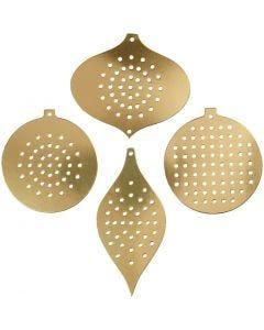 Sykarton, H: 8,5-12 cm, hulstr. 3 mm, metallic guld, 8 stk./ 1 pk.