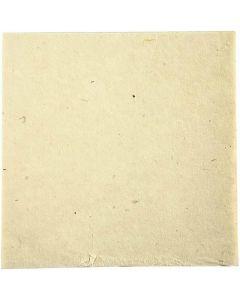 Håndlavet papir, 20x20 cm, 70 g, råhvid, 10 ark/ 1 pk.