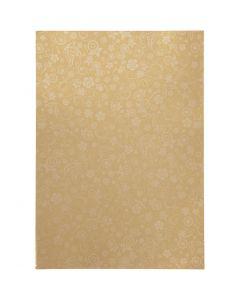 Papir, A4, 210x297 mm, 80 g, guld, 20 ark/ 1 pk.