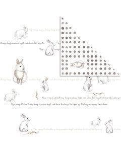 Designpapir, kaniner , 30,5x30,5 cm, 180 g, 5 ark/ 1 pk.