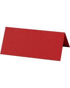 Bordkort, str. 9x4 cm, 220 g, rød, 20 stk./ 1 pk.