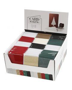 Kort og kuverter, kort str. 10,5x15 cm, kuvert str. 11,5x16,5 cm, 120 sæt/ 1 pk.