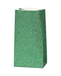 Papirposer, H: 17 cm, str. 6x9 cm, 150 g, grøn, 8 stk./ 1 pk.