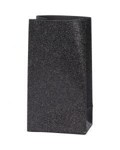 Papirposer, H: 17 cm, str. 6x9 cm, 170 g, sort, 8 stk./ 1 pk.