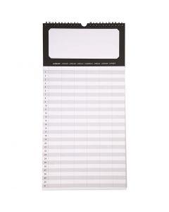 Familiekalender, str. 44x22 cm, 180 g, 5 stk./ 1 pk.
