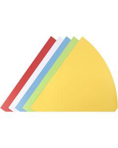 Kræmmerhuse, H: 68 cm, diam. 20 cm, ass. farver, 5 stk./ 1 pk.