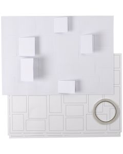 Julekalender, str. 30x42 cm, hvid, 5 stk./ 1 pk.