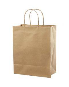 Papirposer, H: 33 cm, B: 26x13 cm, 125 g, brun, 10 stk./ 1 pk.