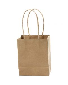 Papirposer, H: 17 cm, B: 12x7 cm, 125 g, brun, 10 stk./ 1 pk.