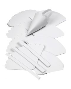 Kræmmerhuse, H: 13 cm, diam. 8 cm, hvid, 240 stk./ 1 pk.