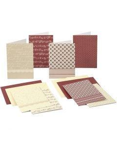 Brevkort med kuvert, kort str. 10,5x15 cm, 220 g, 16 stk./ 1 pk.