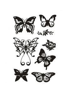 Silikonestempler, sommerfugle, 11x15,5 cm, 1 ark