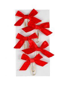 Klips, str. 40x70 mm, rød, 5 stk./ 1 pk.