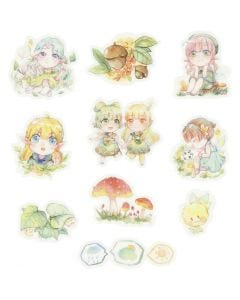 Washi stickers, småpiger, str. 20-50 mm, 30 stk./ 1 pk.