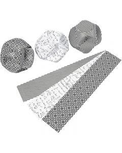 Click ornamenter, diam. 9 cm, str. 5,5x28,4 cm, 9 sæt/ 1 pk.