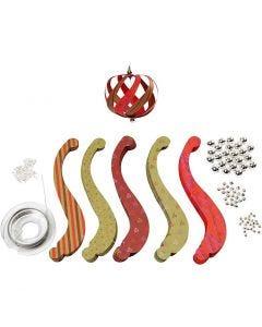 Papirstrimler inkl. monteringssæt, str. 12x1,5 cm, 180 g, 12 stk./ 1 pk.
