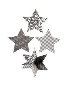3D Stjerner, diam. 15 cm, 300 g, 3 stk./ 1 pk.