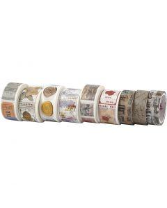 Masking Tape, L: 3+5 m, B: 15+25 mm, 9 rl./ 1 pk.