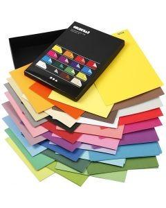 Color Bar rivepapir, A4, 210x297 mm, 100 g, ass. farver, 16x10 ark/ 1 pk.