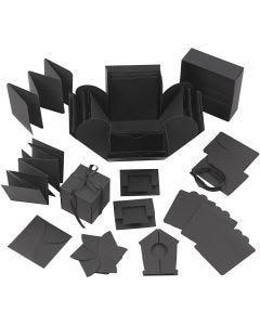 Explosion box, str. 7x7x7,5+12x12x12 cm, sort, 1 stk.