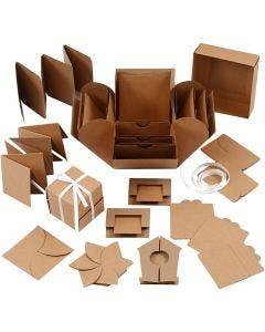 Explosion box, str. 7x7x7,5+12x12x12 cm, natur, 1 stk.