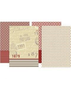 Decoupagepapir, 25x35 cm, 17 g, 8 ass. ark/ 1 pk.