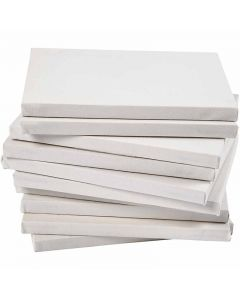 Malerlærred, dybde 1,6 cm, A4, str. 21x29,7 cm, 280 g, hvid, 40 stk./ 1 pk.