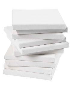 Malerlærred, dybde 1,6 cm, str. 15x15 cm, 280 g, hvid, 80 stk./ 1 pk.