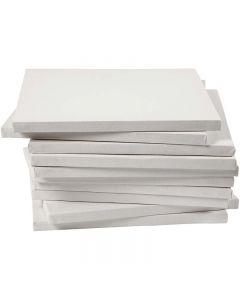 Malerlærred, dybde 1,6 cm, str. 30x30 cm, 280 g, hvid, 40 stk./ 1 pk.