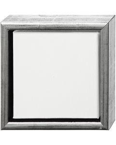 ArtistLine Canvas med ramme, str. 19x19 cm, antik sølv, hvid, 1 stk.