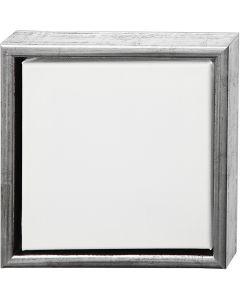 ArtistLine Canvas med ramme, str. 24x24 cm, 360 g, antik sølv, hvid, 1 stk.