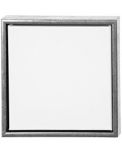 ArtistLine Canvas med ramme, str. 34x34 cm, 360 g, antik sølv, hvid, 1 stk.