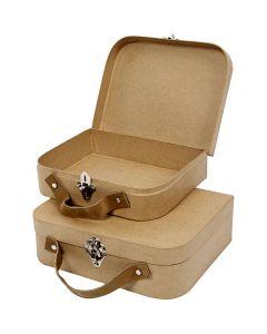 Kufferter, str. 25,5x20x8 cm, 2 stk./ 1 sæt