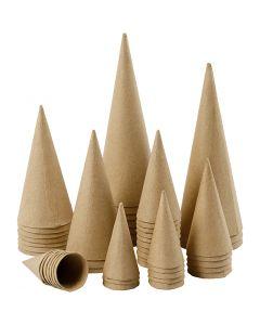 Kegle, H: 8-20 cm, diam. 4-8 cm, 50 stk./ 1 pk.