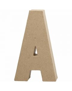 Bogstav, A, H: 20,5 cm, B: 11,8 cm, tykkelse 2,5 cm, 1 stk.