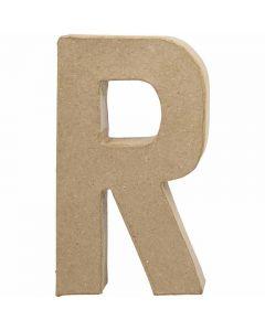 Bogstav, R, H: 20,5 cm, B: 11,7 cm, tykkelse 2,5 cm, 1 stk.