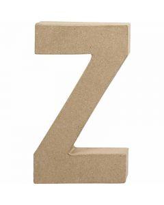 Bogstav, Z, H: 20,2 cm, B: 11,2 cm, tykkelse 2,5 cm, 1 stk.