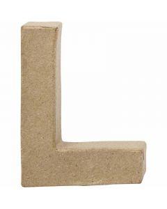 Bogstav, L, H: 10 cm, B: 7,5 cm, tykkelse 1,7 cm, 1 stk.
