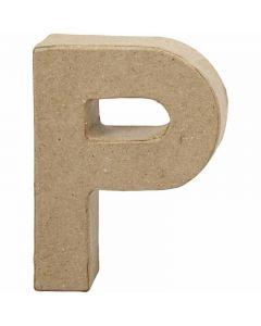 Bogstav, P, H: 10 cm, B: 7,7 cm, tykkelse 1,7 cm, 1 stk.