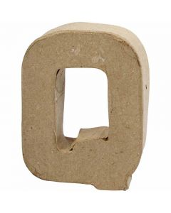 Bogstav, Q, H: 10 cm, B: 7,8 cm, tykkelse 1,7 cm, 1 stk.