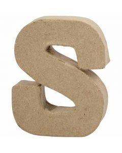 Bogstav, S, H: 10 cm, B: 8 cm, tykkelse 1,7 cm, 1 stk.