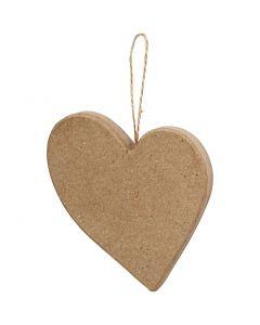 Asymmetrisk hjerte, H: 10,5 cm, 1 stk.