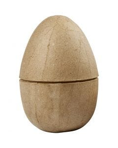 To-delt æg, H: 12 cm, diam. 9 cm, 1 stk.