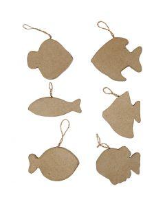 Fisk, H: 8 cm, 6 stk./ 1 pk.